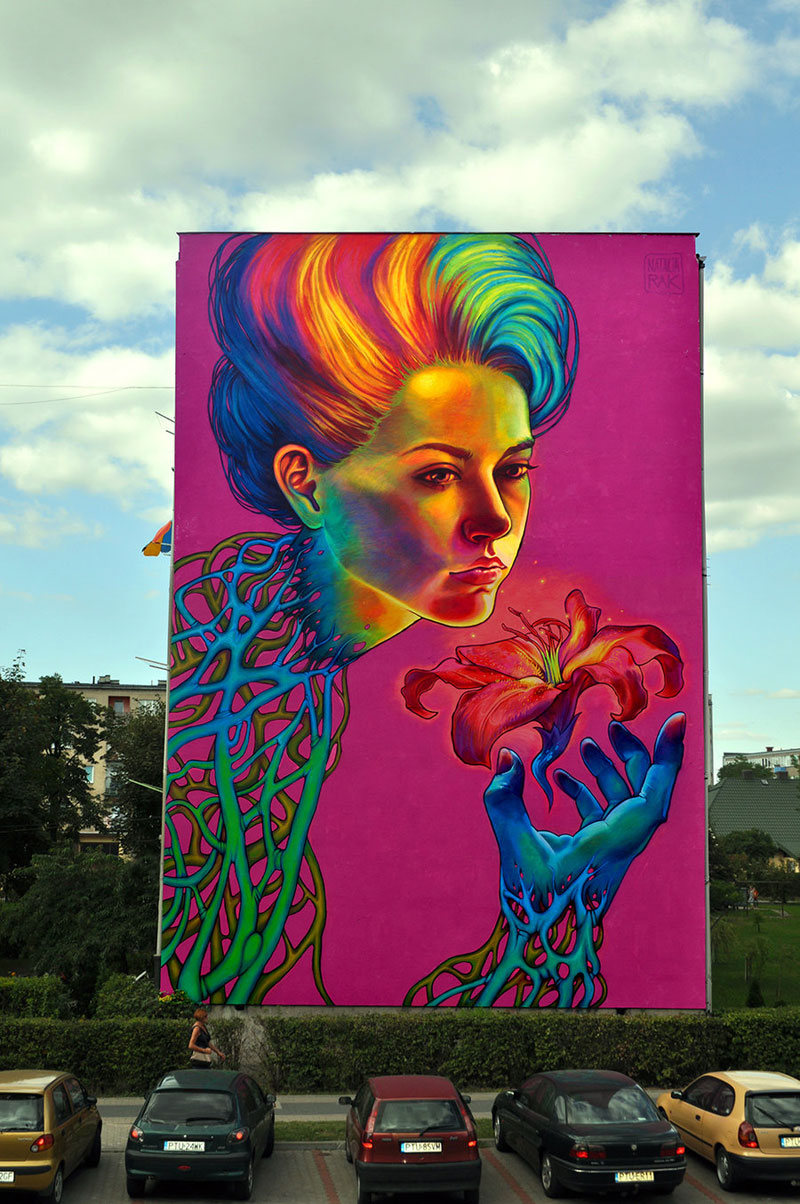 Building Sized Street Art Portraits By Natalia Rak