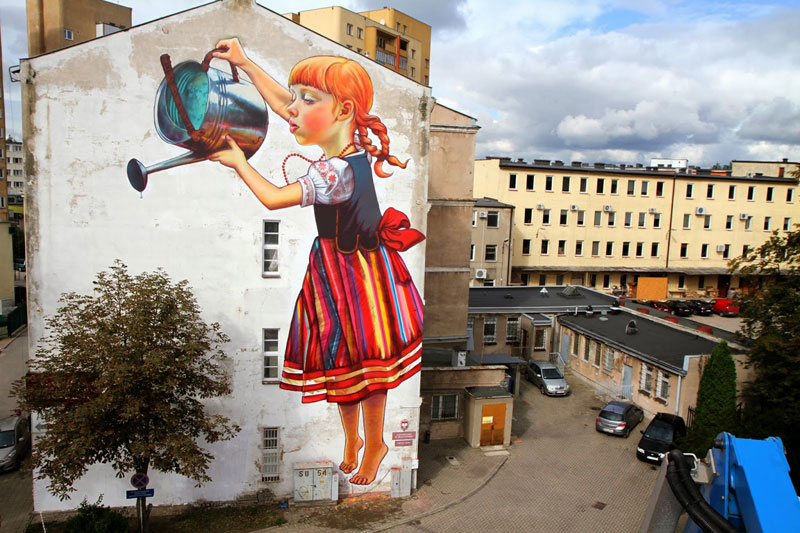 street art by natalia rak poland 6 This is the Worlds Longest Wood Carving. It was Made from a Single Tree Trunk