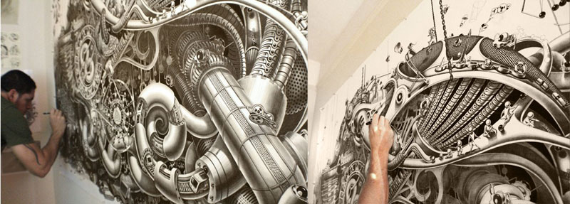 triptych drawing graphite and ink by samuel gomez deadpan comedy art prize 2013 (10)
