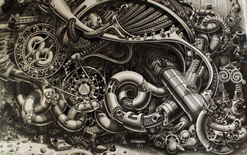 Samuel Gomez Draws a 90-Square-Foot Masterpiece