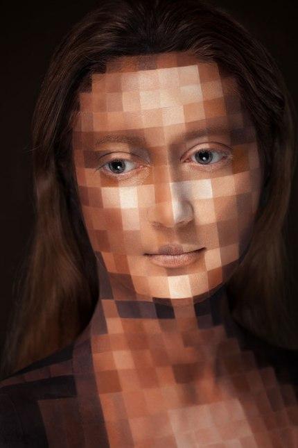 2D Portraits Painted Onto Human Faces (10)