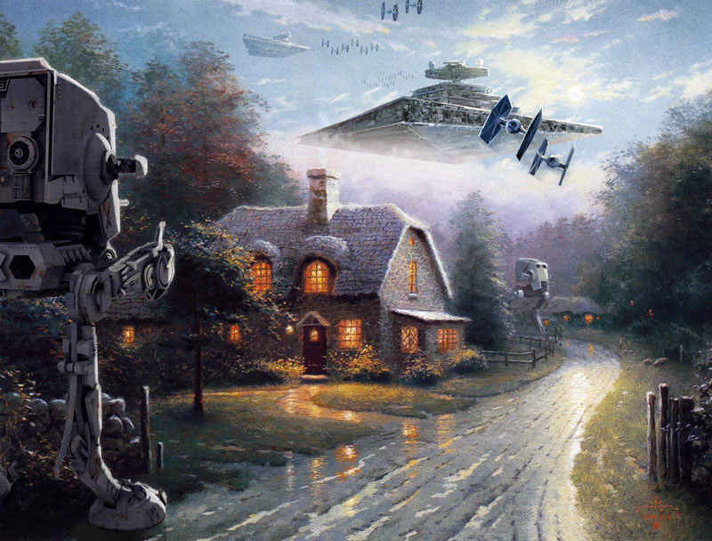 Artist Adds Star Wars Figures Into Landscape Paintings