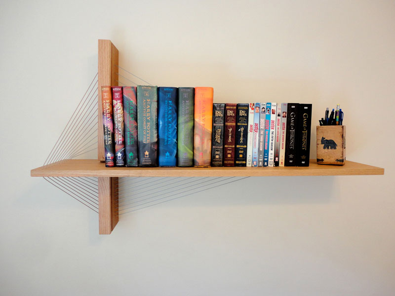 Furniture Held Together Just By Tension Robby Cuthbert 1 Floating  Bookshelves Held Up By A Magnetic