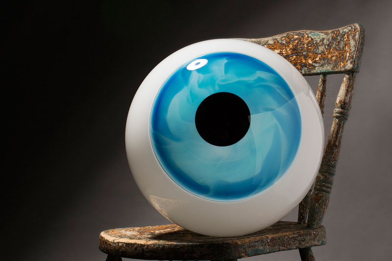 glass eye sigga heimis glasslab This is Murrine. Its Made of Glass and Can Be Sliced Like a Loaf of Bread