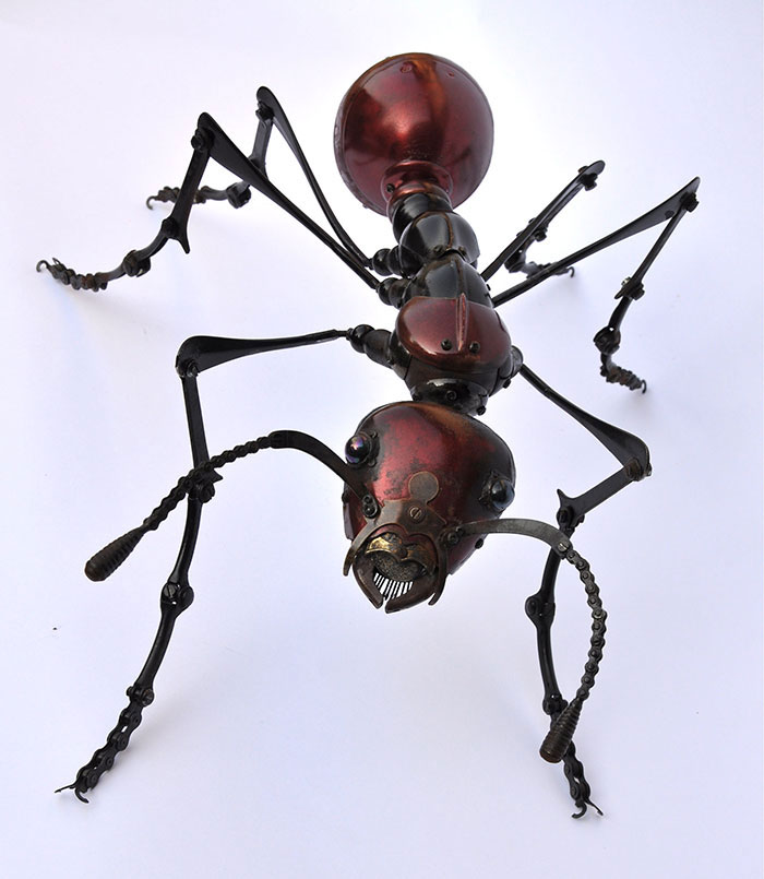 insects and animals made from scrap metal and bike parts edouard martinet (20)
