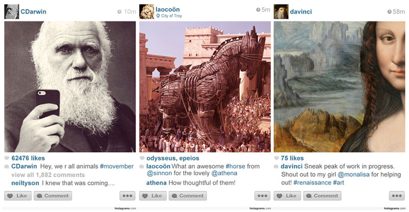 What If There Was Instagram ThroughoutHistory?