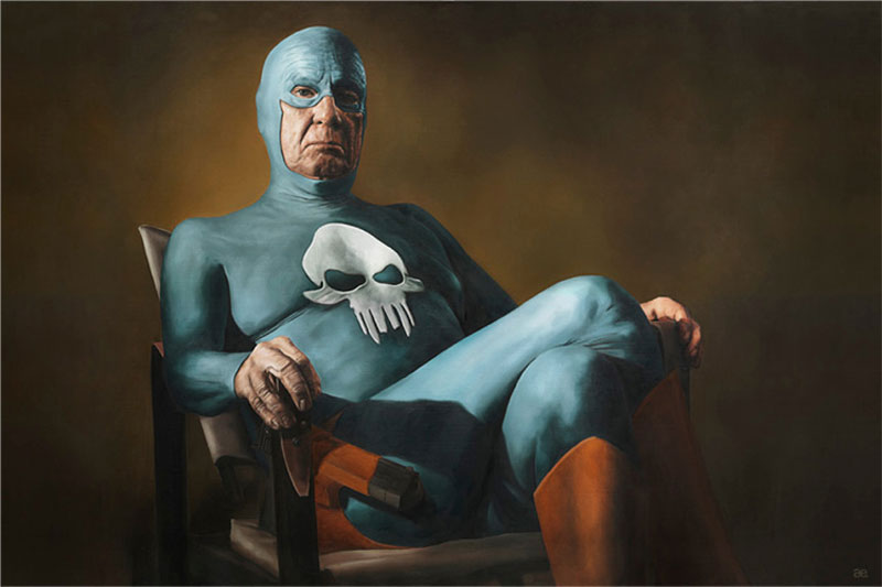 life of an aging superhero oil painting portraits by andreas englund (3)