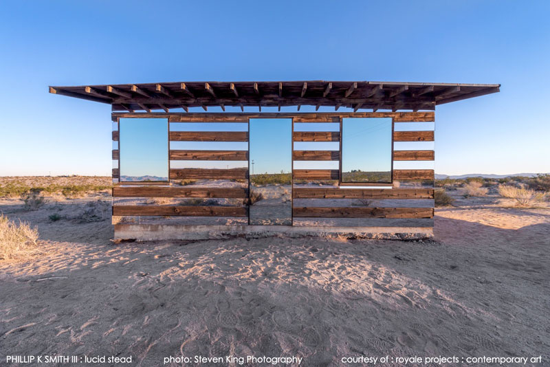 lucid stead by phillip k smith III transparent cabin wood and glass joshua tree national park (1)