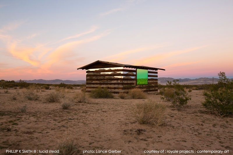 lucid stead by phillip k smith III transparent cabin wood and glass joshua tree national park (10)