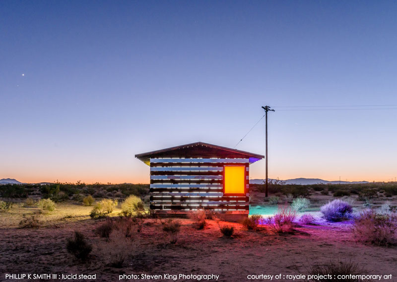 lucid stead by phillip k smith III transparent cabin wood and glass joshua tree national park (11)