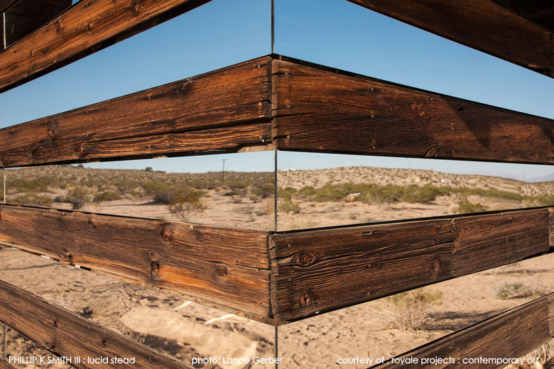 lucid stead by phillip k smith III transparent cabin wood and glass joshua tree national park (15)