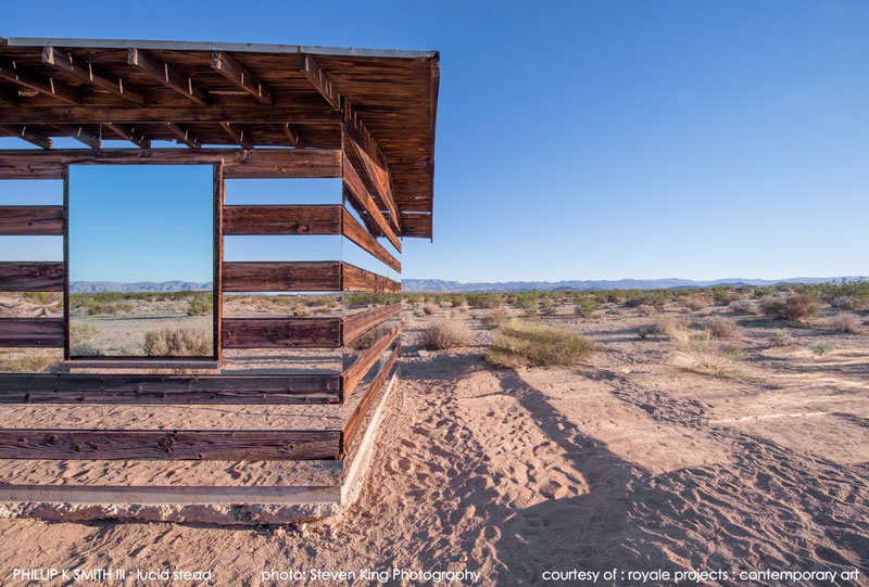 lucid stead by phillip k smith III transparent cabin wood and glass joshua tree national park (3)