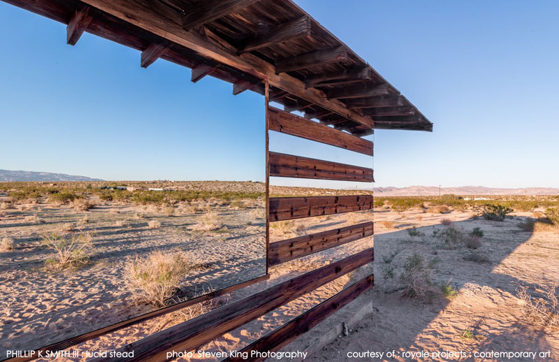lucid stead by phillip k smith III transparent cabin wood and glass joshua tree national park (4)