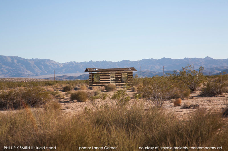 lucid stead by phillip k smith III transparent cabin wood and glass joshua tree national park (5)