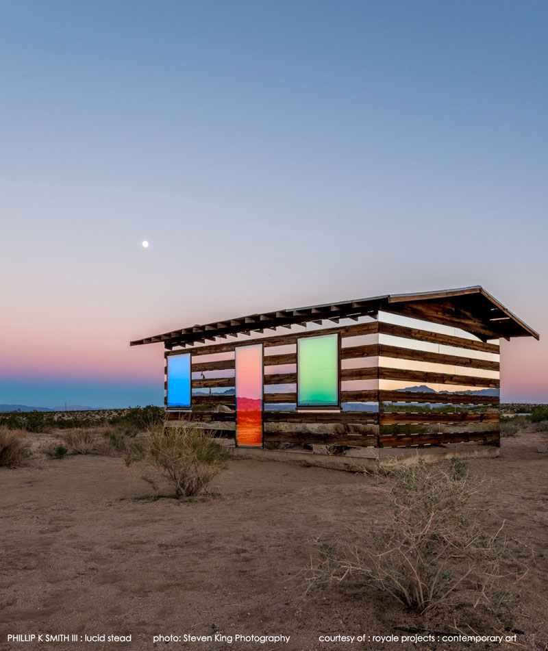 lucid stead by phillip k smith III transparent cabin wood and glass joshua tree national park (9)