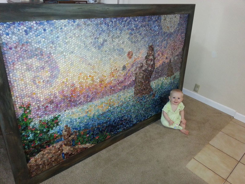 play doh mosaic artwork lacy knudson dozayix (15)