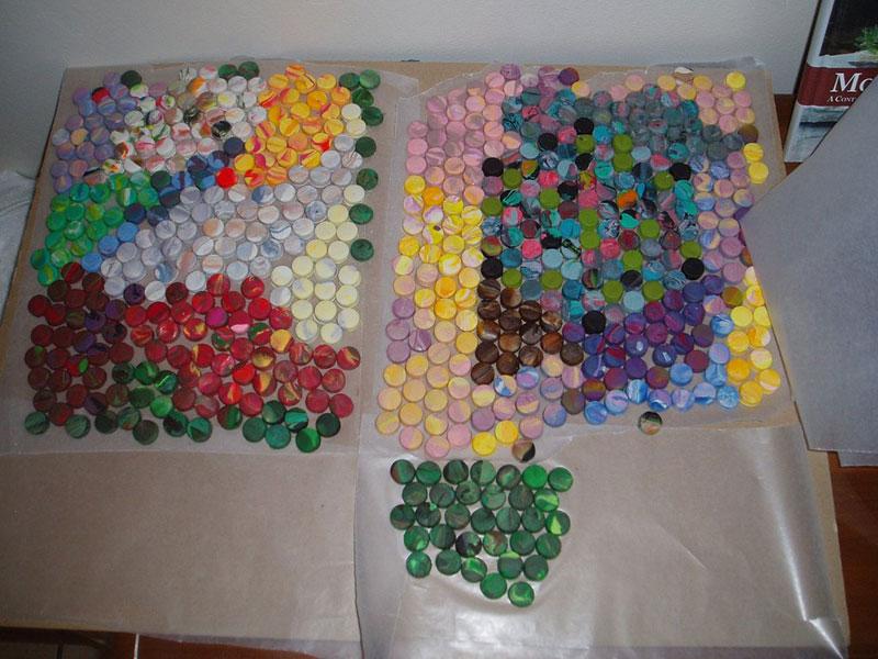 play doh mosaic artwork lacy knudson dozayix (3)