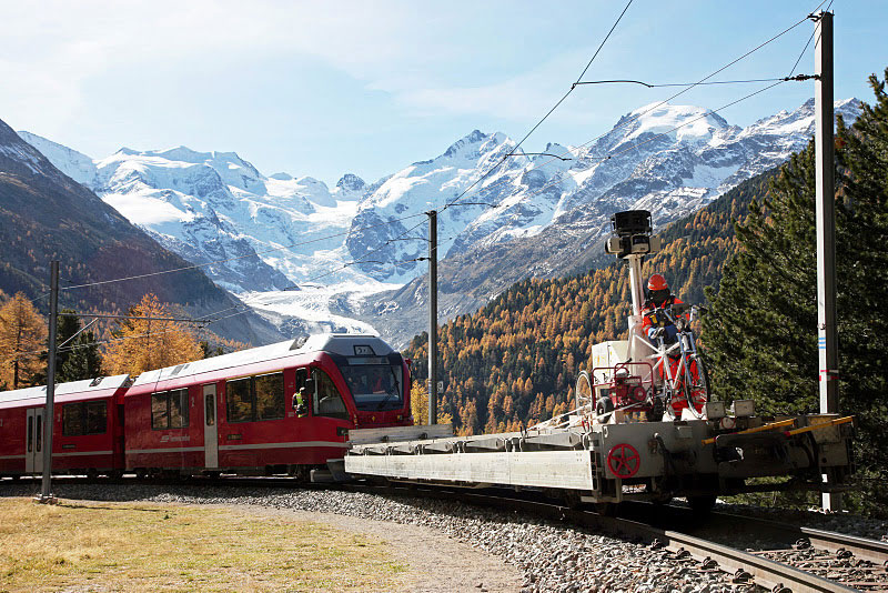rhaetian railway albula bernina google street view 2 A World Heritage Site Railway Route through the Swiss Alps