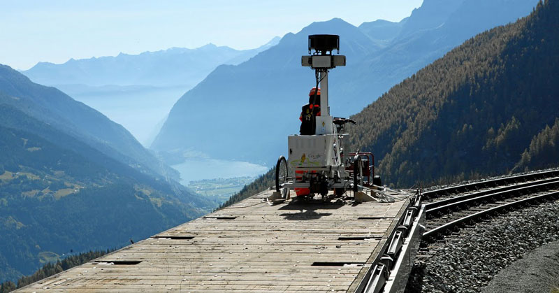 rhaetian railway albula bernina google street view A World Heritage Site Railway Route through the Swiss Alps