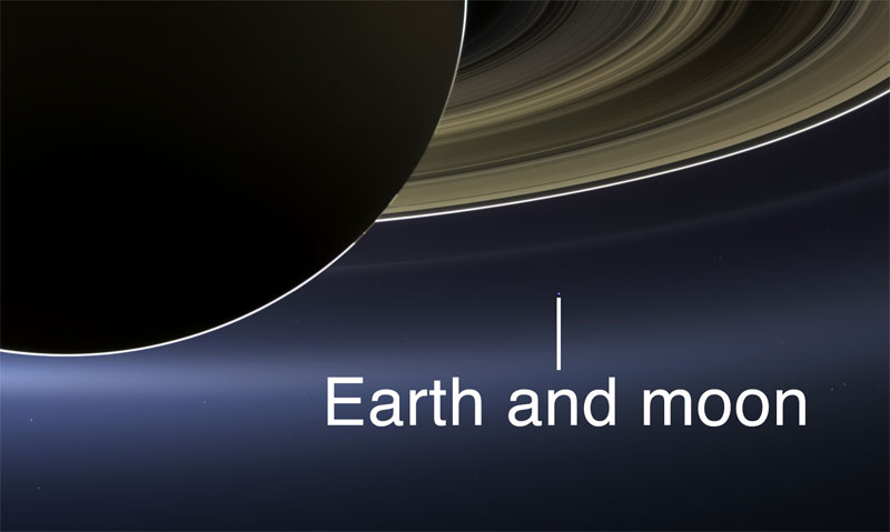 saturn earth and moon in one shot close up nasa