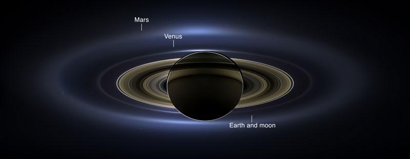 saturn venus mars earth in one photo nasa