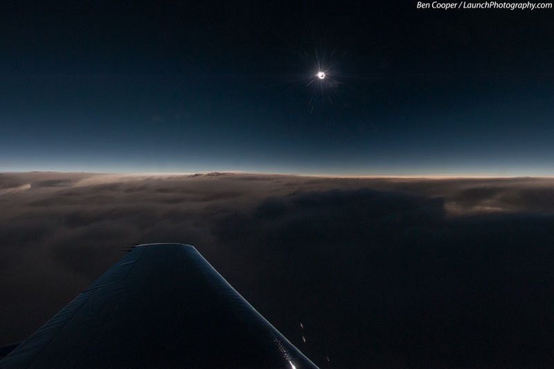 solar eclipse from an airplane ben cooper