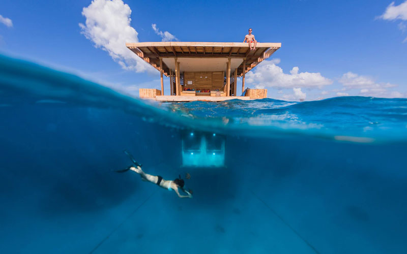 underwater hotel room pemba island tanzania africa 8 Cloud 9 Fiji, the Floating Bar in the Middle of the Ocean