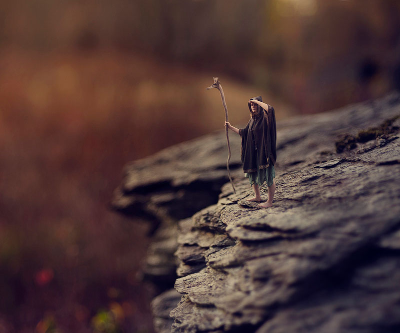 Teenager Splices Portrait and Macro Photos into Miniature Fantasy World