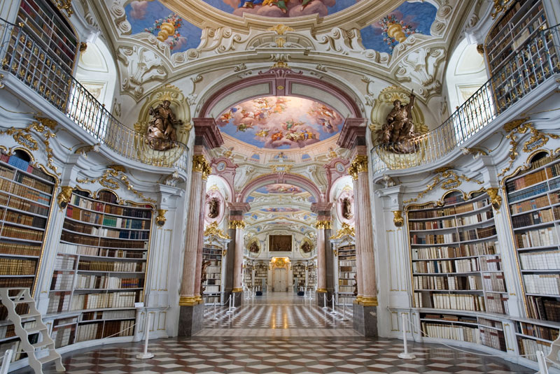 admont abbey monastery library austria 3 Bucharest Bookstore Opens in Beautifully Restored 19th Century Building