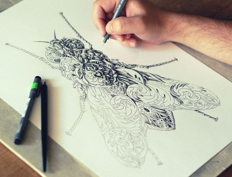 Alex Konahin ink illustrations (8)
