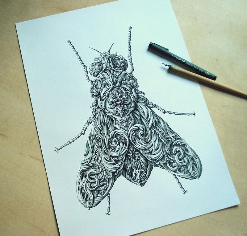 Alex Konahin ink illustrations (9)