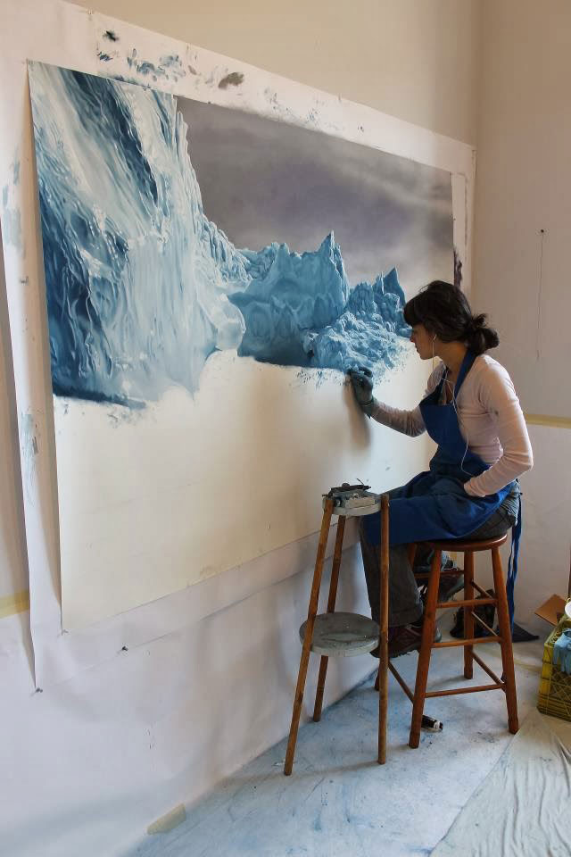 Artist Fulfills Late Mother's Dream to Visit Greenland and Create Art