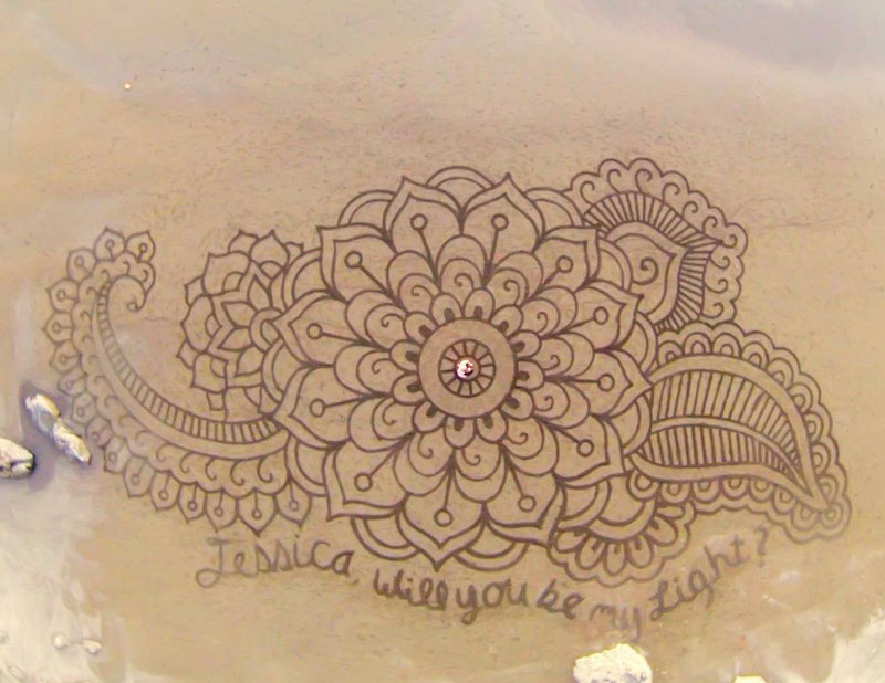 beach sand art with a by rake andres amador (17)