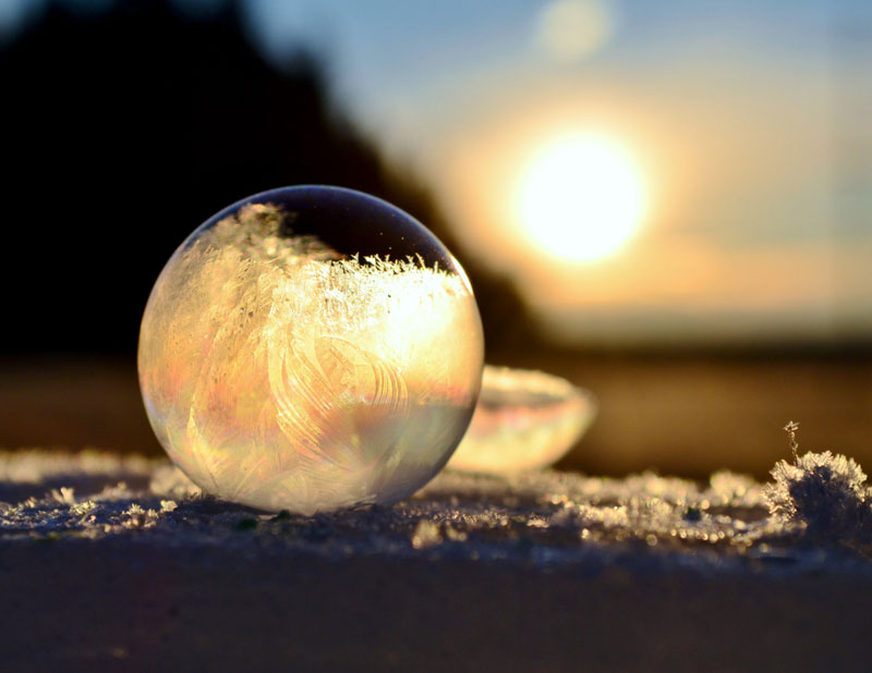 close ups of frozen soap bubbles angela kelly macro 11 Dad Illustrates the Darndest Things Hes Ever Said to His Kids