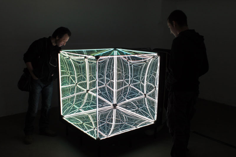 This Light Bending Cube Of One Way Mirrors Will Really