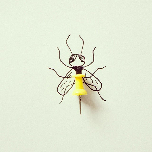 doodles that incorporate everday objects by javier perez cintascotch on instagram (11)