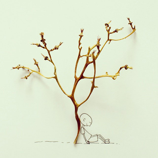 doodles that incorporate everday objects by javier perez cintascotch on instagram (3)