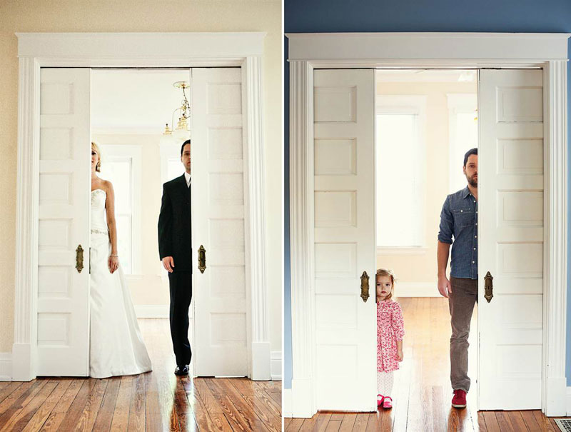 father and daugher recreate wedding photos of late mother wife tracy pace loft3 1 Parents Recreate Movie Scenes with Baby Son and Lots of Cardboard