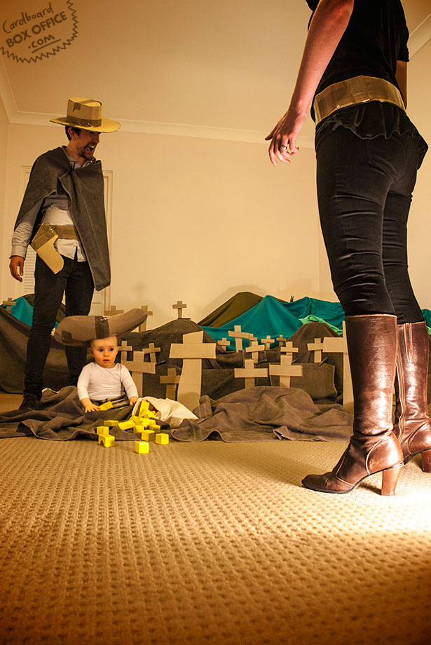 goodbadugly Parents Recreate Movie Scenes with baby Son and cardboard