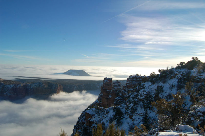 grand canyon filled with fog november thanksgiving 2013 (3)