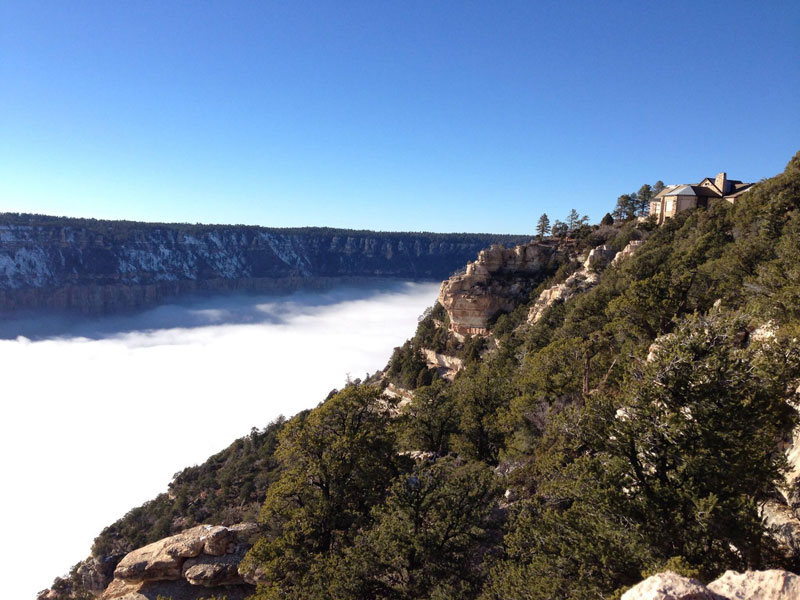 grand canyon filled with fog november thanksgiving 2013 (9)