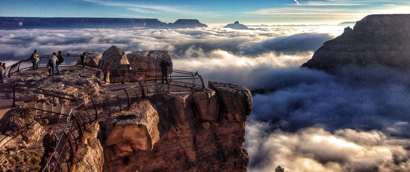 grand canyon filled with fog november thanksgiving 2013 (erin whittaker)