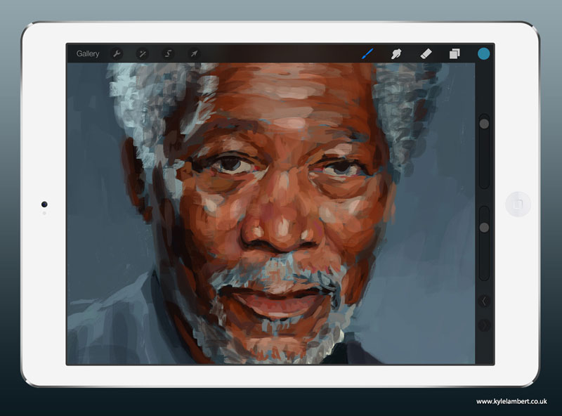 kyle-lambert-morgan-freeman-ipad-finger-painting-stage-1