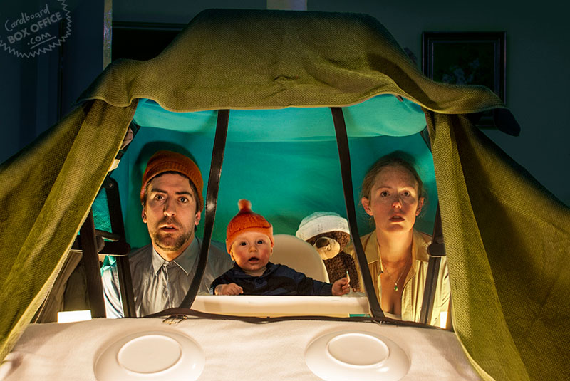 lifeaquatic Parents Recreate Movie Scenes with baby Son and cardboard