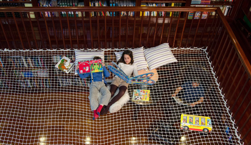 reading net for kids by play office 3 This Furniture Gives New Meaning to the Term Ceiling Cat