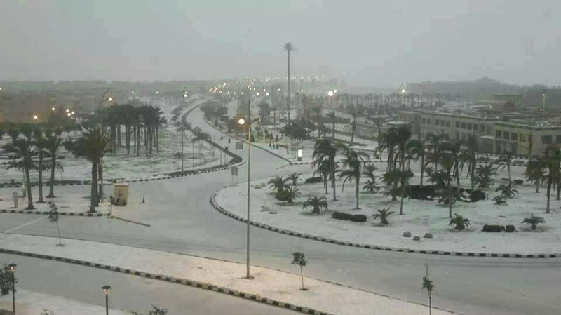 snow in cairo egypt december 2013 (1)