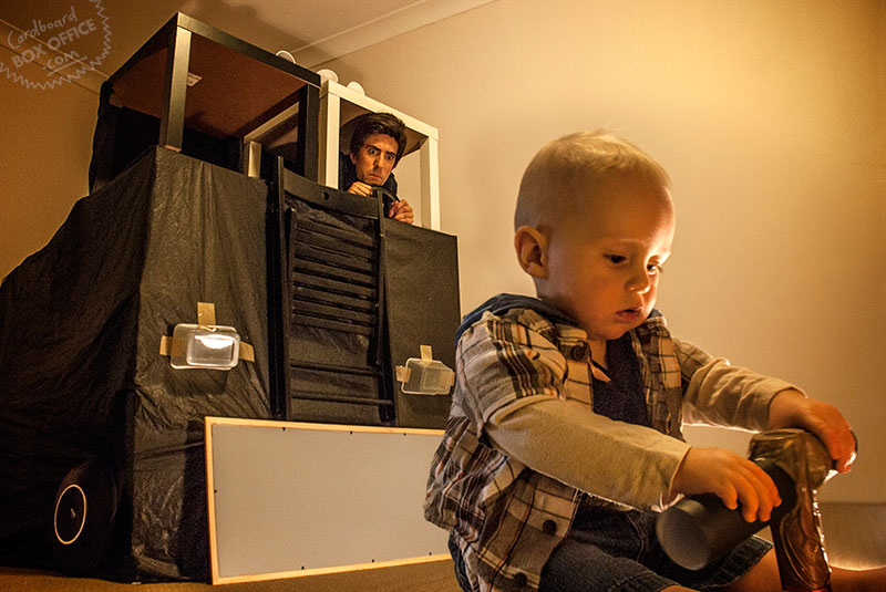terminator Parents Recreate Movie Scenes with baby Son and cardboard