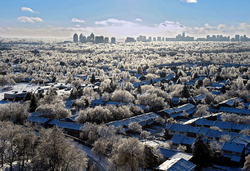 Picture of the Day: White Christmas inToronto