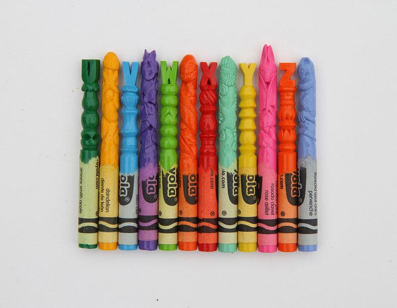 alphabet carved into crayons by diem chau (12)