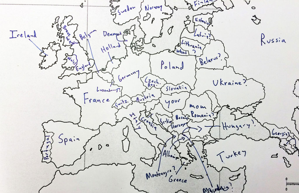 american students asked to label a map of europe (1)